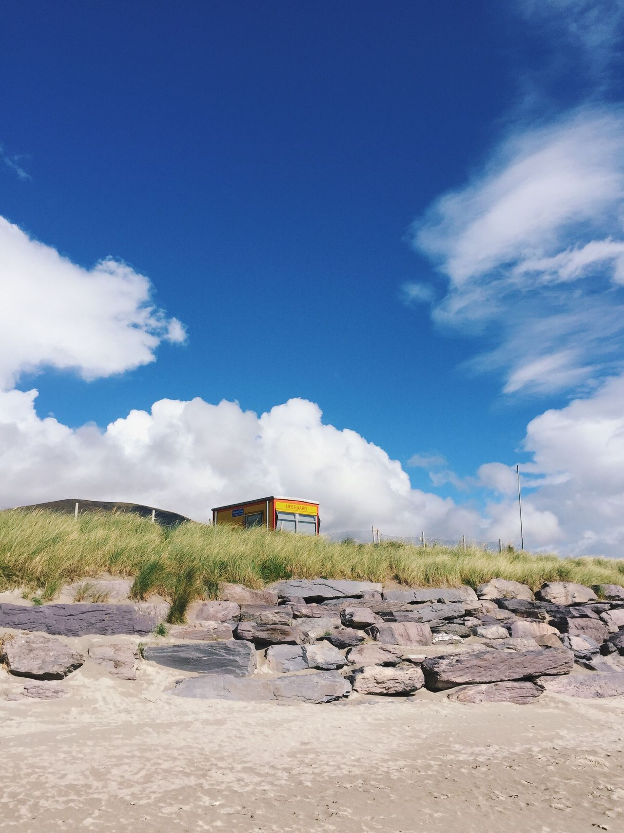 Outpost Outdoors Sky Nature Day Landscape Field Tranquility Beauty In Nature Beach Lifeguard Station Ireland