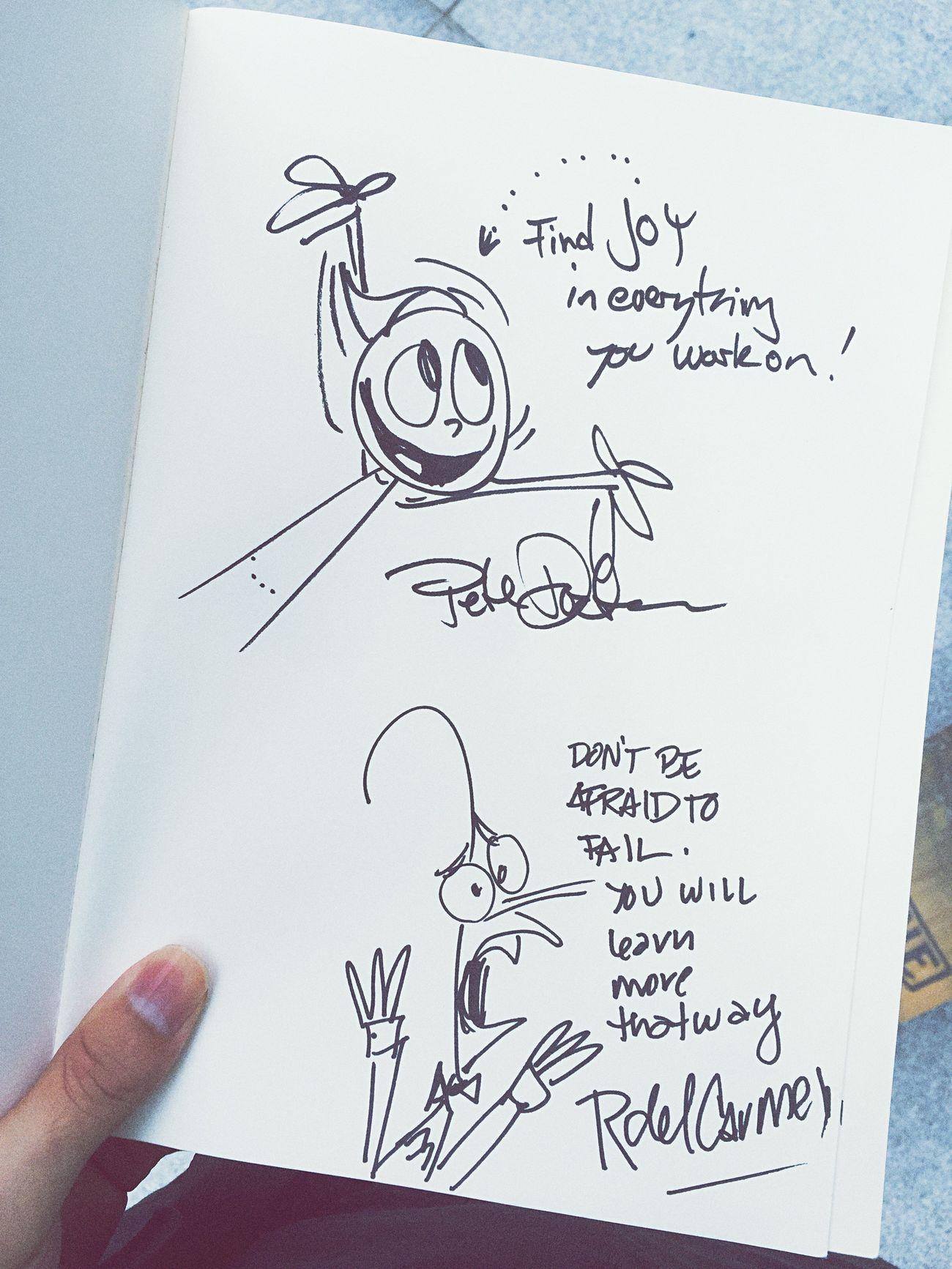 Best autograph ever!!!! Pixar  Disney Inside Out