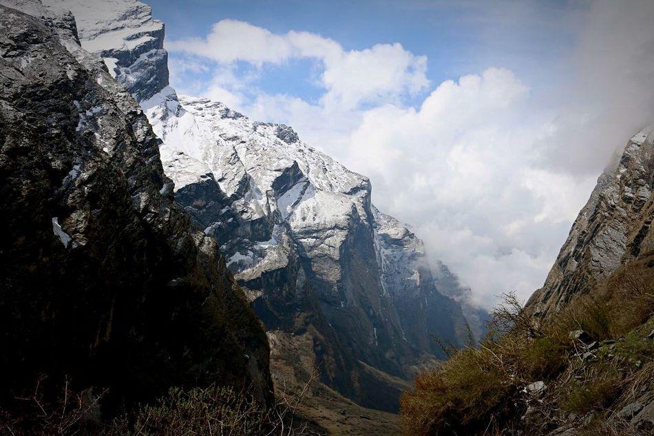 Beautiful stock photos of annapurna, winter, snow, mountain, season