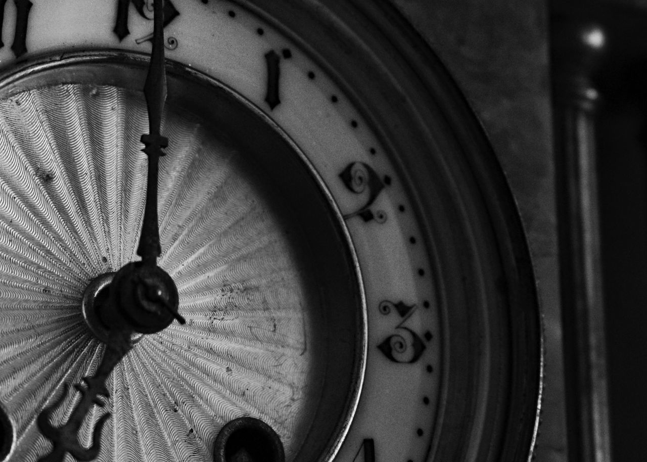 time, clock, old-fashioned, indoors, no people, minute hand, roman numeral, clock face, close-up, hour hand, day