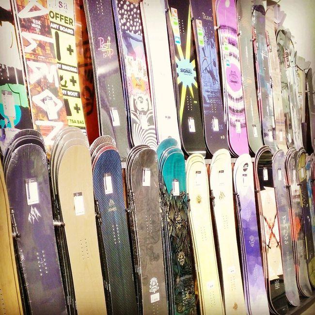 No People Indoors  Close-up Horizontal Day Snow Snowboarding Snowboard