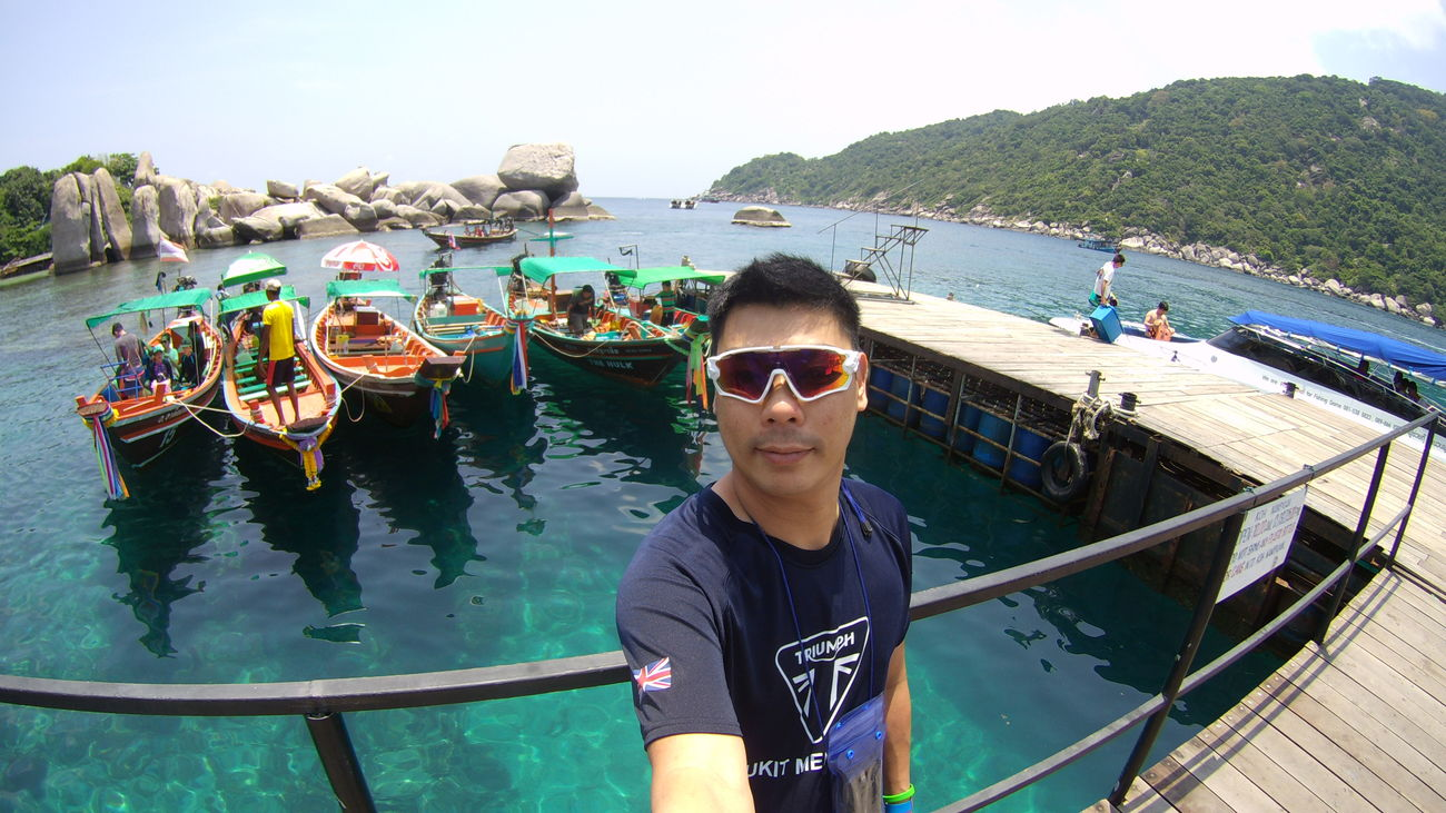 Sunglasses Only Men One Person One Man Only Adults Only Day Water Adult Outdoors People Leisure Activity Real People Vacations Men Nautical Vessel Sea Young Adult Sky Koh Nangyuan Amazing Thailand That's Me! Human Body Part Selfie