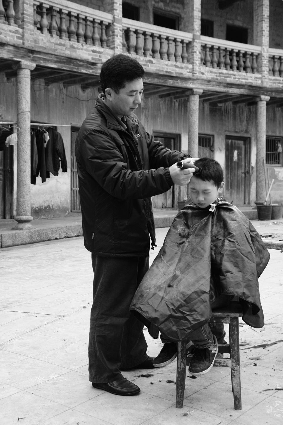 Father And Son Haircut Time Meizhou Traditional Father & Son Haircut Old Fresh On Eyeem  Outdoor Family Time Fatherhood Moments