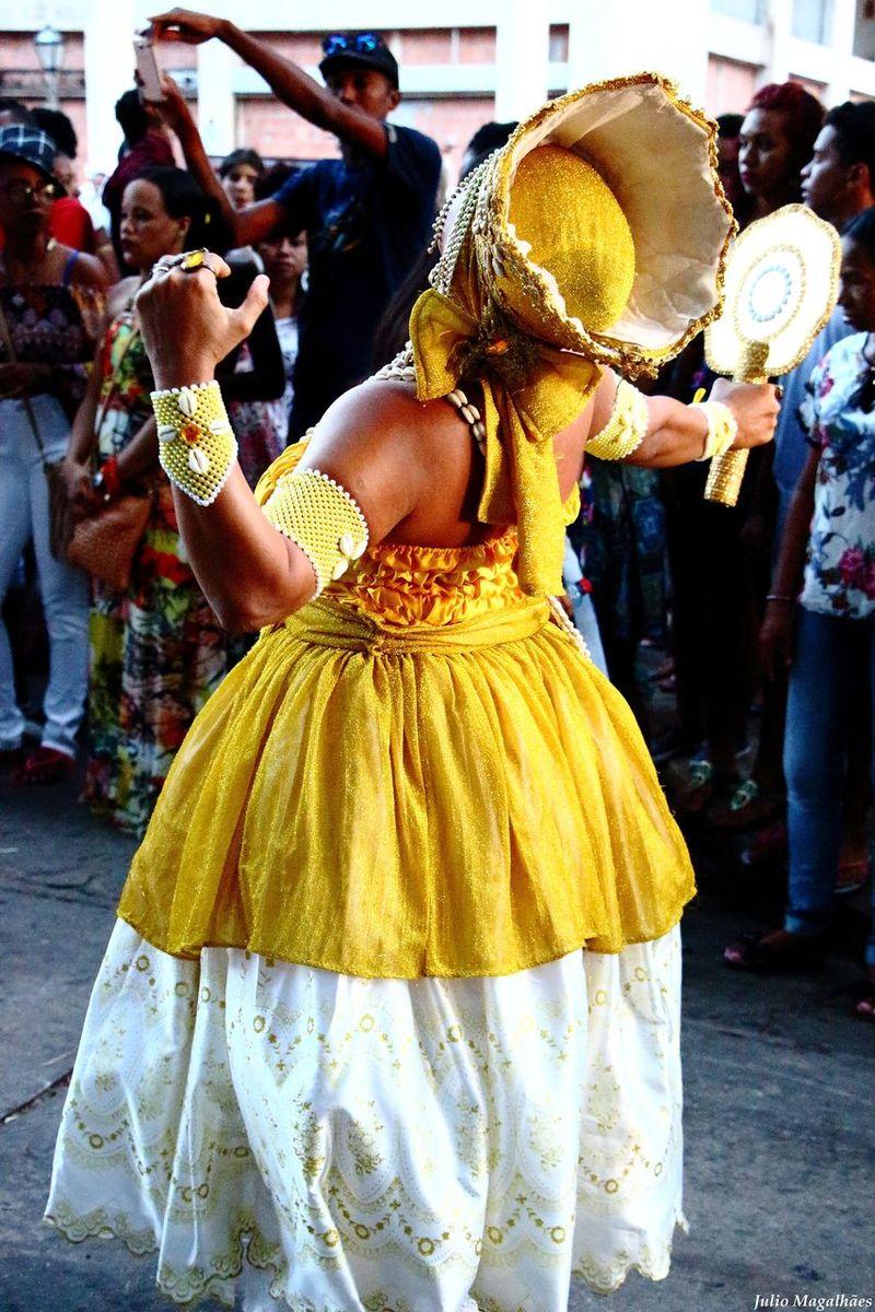 Paint The Town Yellow Real People Traditional Clothing Celebration Lifestyles Women Traditional Festival Dancing Adult Celebration São Luís - MA Maranhão Religion Umbanda Cultures Ceremony Tradition Orixa Candomblé Procissão