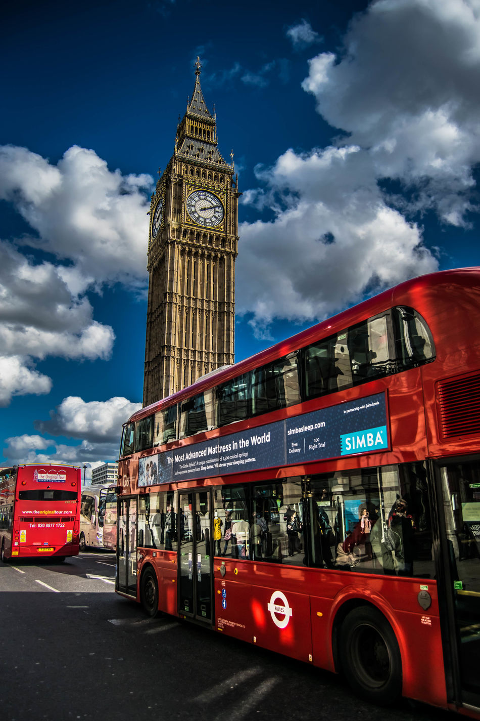 Architecture Building Exterior City City Life Clock Clock Tower Cloud - Sky Cultures Day Double-decker Bus London Bus No People Outdoors Red Sky Time Tower Travel Travel Destinations Westminster