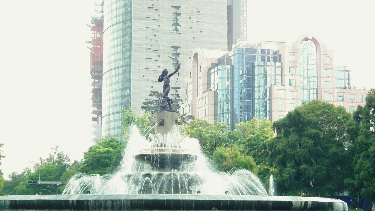 Diana cazadora. Mexico Mexico City Tree Sky Building Exterior Fuente Glorieta De Insurgentes , México ,Df
