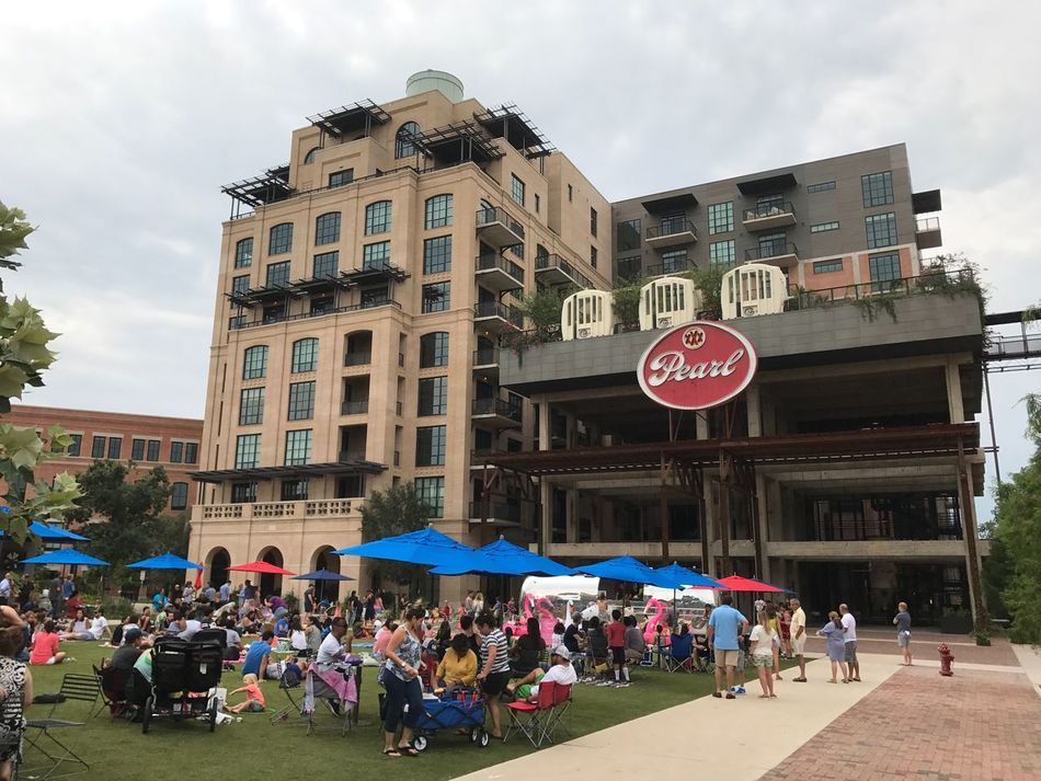 Music at the Pearl with friends. Large Group Of People Built Structure Building Exterior Architecture Sky Real People Mixed Age Range Men Day Women Outdoors People Adult San Antonio, Texas San Antonio Pearl Brewery Pearl Brewery Music At The Pearl Photo By Dee Crawford 2017
