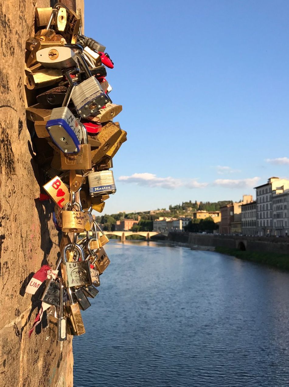 Valentine's Day  Architecture Built Structure Building Exterior Padlock Hanging No People River Outdoors Day Love Lock Clear Sky Lock Water Bridge - Man Made Structure Sky City Hope Nature Close-up
