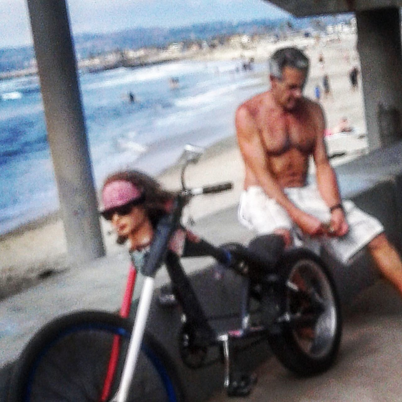 Chillin on the beach Bicycle Cycling One Man Only Riding One Person Lifestyles Leisure Activity Outdoors Beachbum