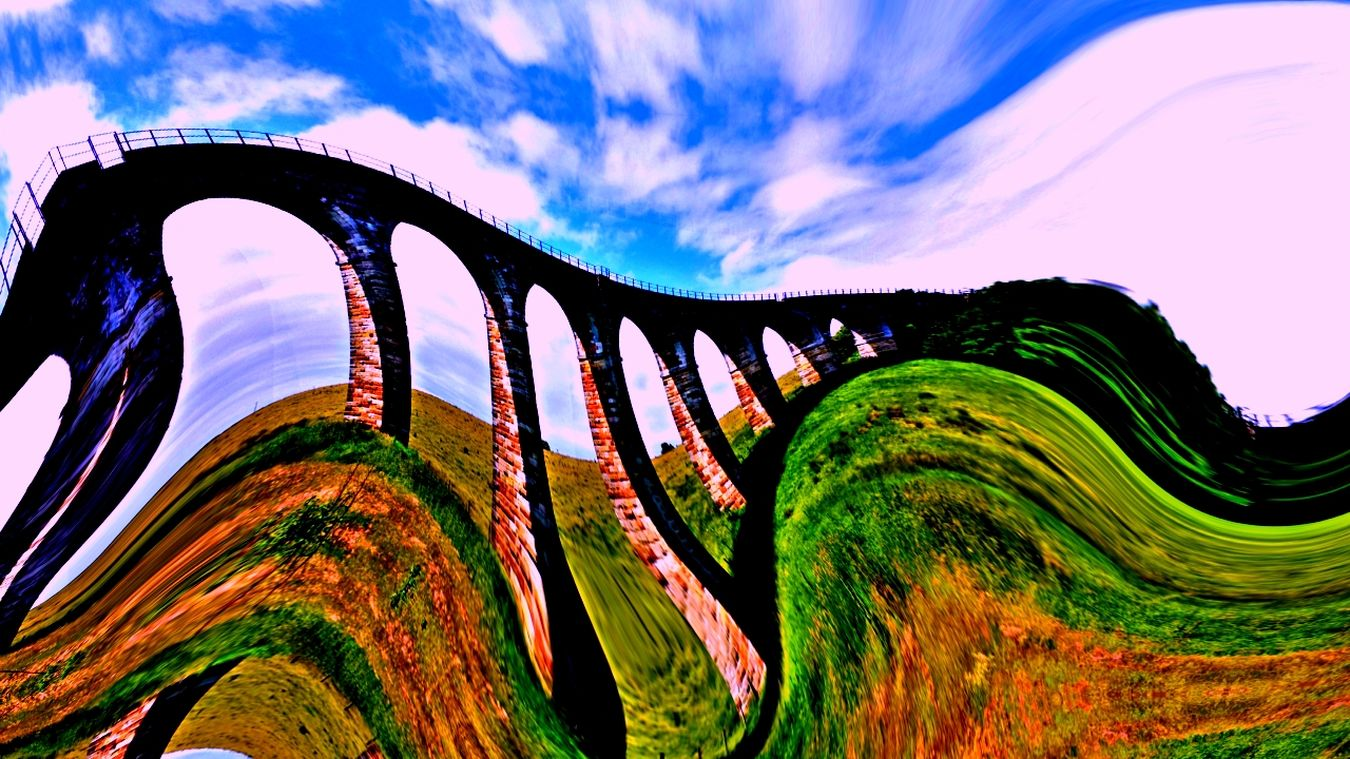 Just messing with a shot of a viaduct Colours Painted Pictures Learning To Edit