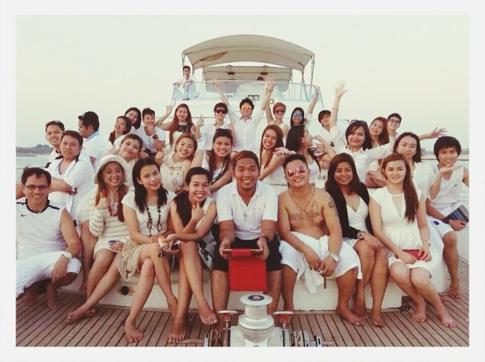 We are the FR team! We are related by blood but we are like sisters and brothers. RePicture Team Yacht Party Dubaimarina