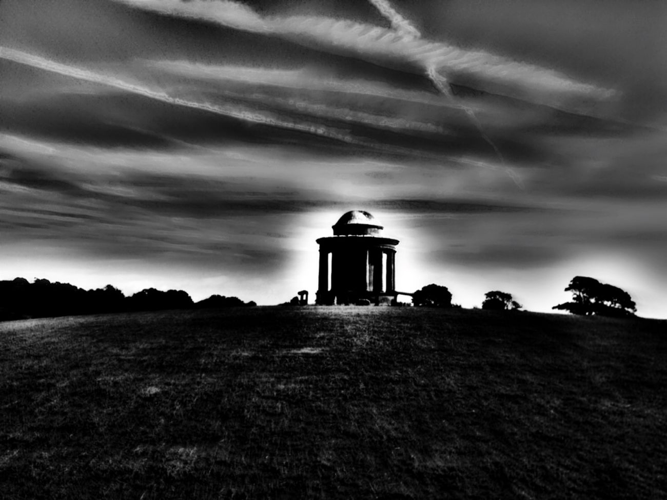 Abandoned adult playhouse English Countryside Untold Stories Dark Fairytale Sacred Places Skyporn Blackandwhite Darkness And Light Open Edit EyeEm_abandonment