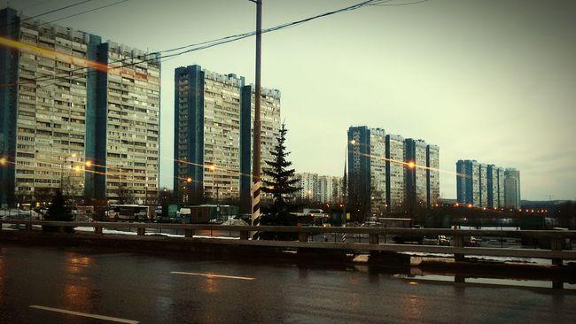Moscow Soviet Architecture Urban Street ясенево