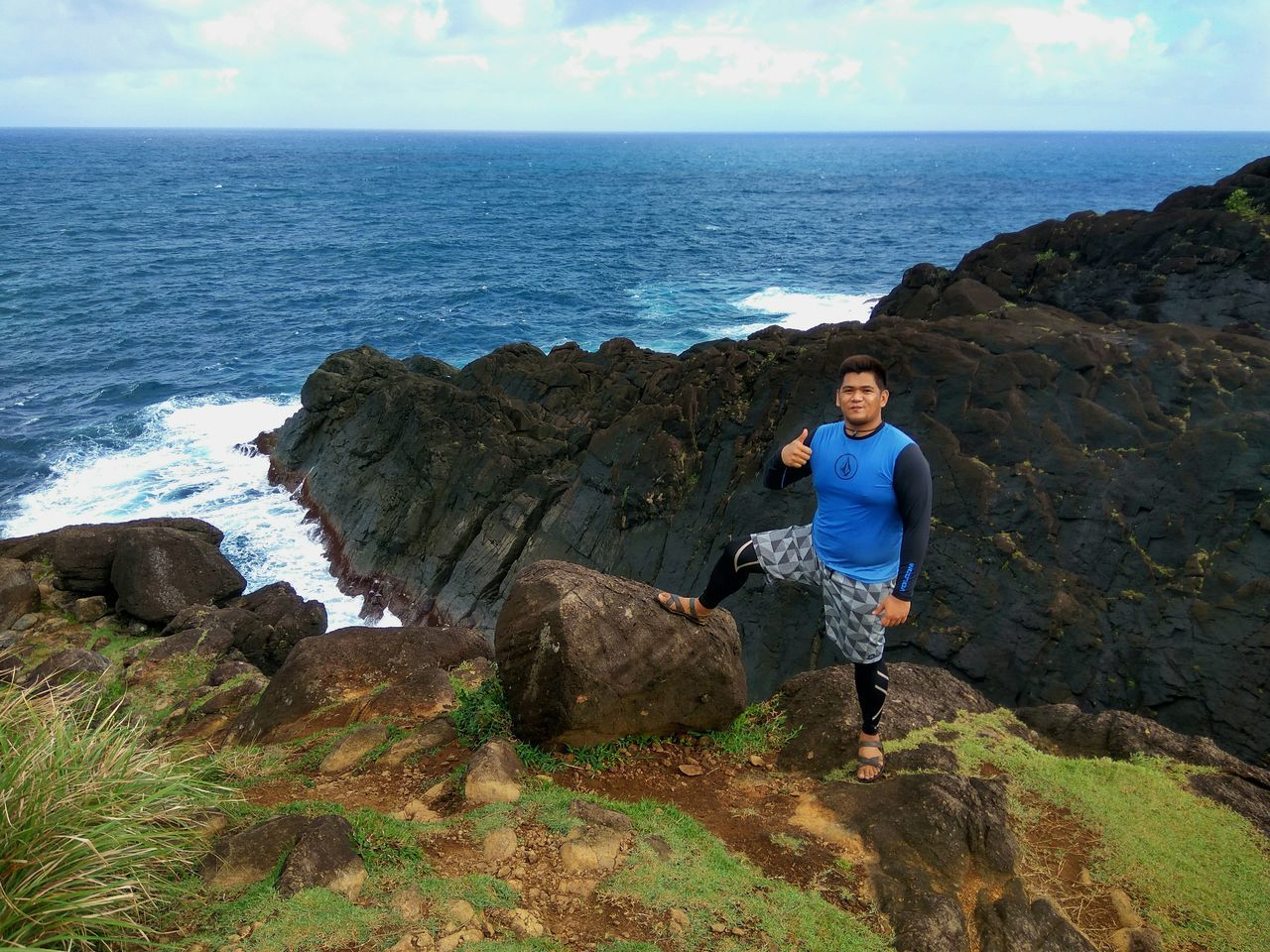 Binurong point.. Sea Outdoors Nature Solo Solotraveler Byahenitinoki Travelph TravelPhilippines Catanduanes Island Binurongpoint Beauty In Nature Rollinghills Beachphotography Beach Wanderlust Sky