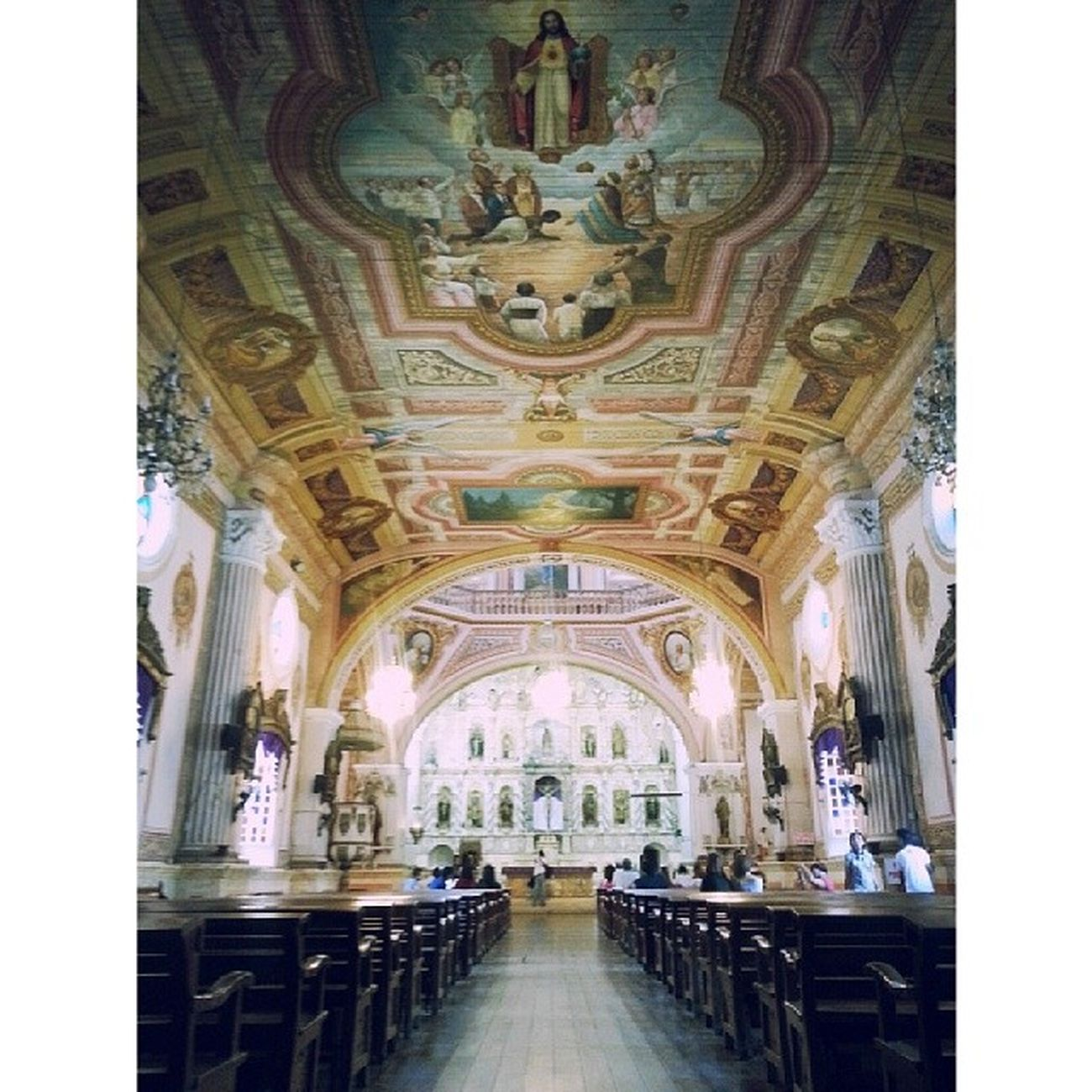 Santiago Mayor Parish Church. One of the most beautiful churches I've seen. And one of the few that still have wooden floors. Betis Pampanga Culturalandheritagetour Travel work