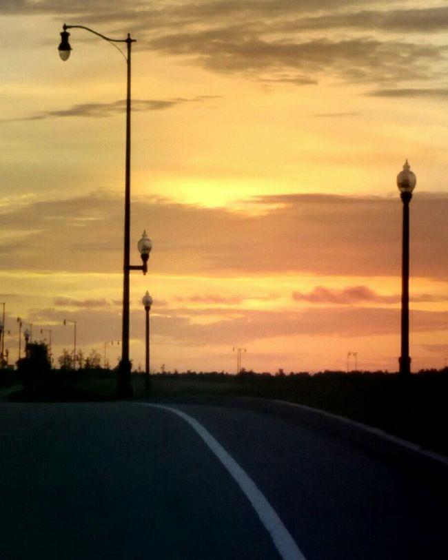 setting sun Beautiful Sunset Sunsets Sunsetlover Sunset Silhouettes Sunset_collection Sunsetphotographs Road Roads Weymouth, Massachusetts Southeastern Massachusetts Massachusetts South Shore