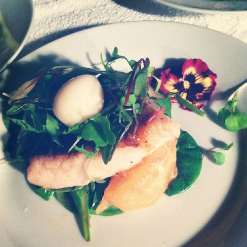 Butter poached red snapper. Theroamingtablesociety