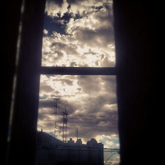Window Sky Clouds Cloudy