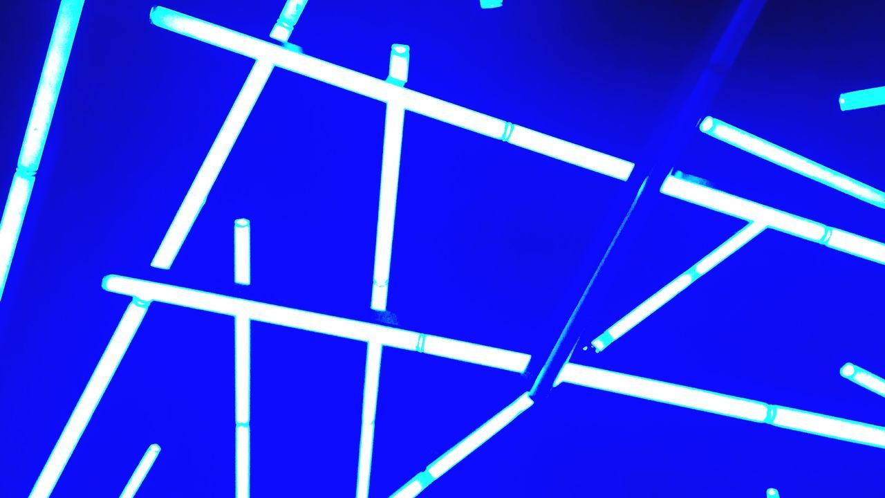 blue, abstract, pattern, full frame, backgrounds, close-up, no people, indoors, illuminated, neon, day, film industry