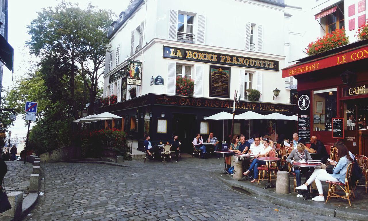 Paris Montmartre City Life Cafe Life Urban Lifestyle Vintage Photo Urban