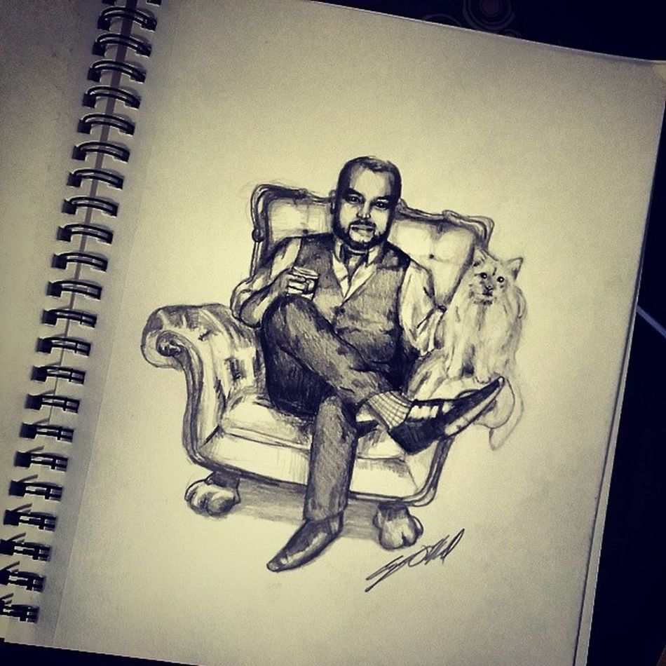 ManOfLeisure & Leroy  - Everydayimdufferin DrClaw inspectorgadget Toronto sketch drawing doodle pencil art cartoon instaart artist illustration