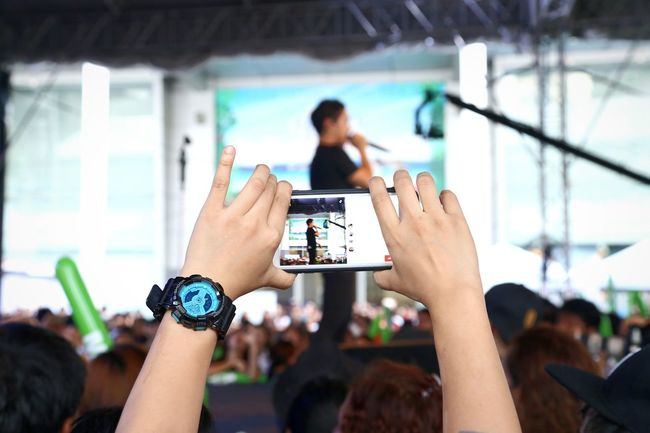 Smart Phone Photography Themes Communication Photographing Mobile Phone Connection Concert Facebook Technology Live Steaming