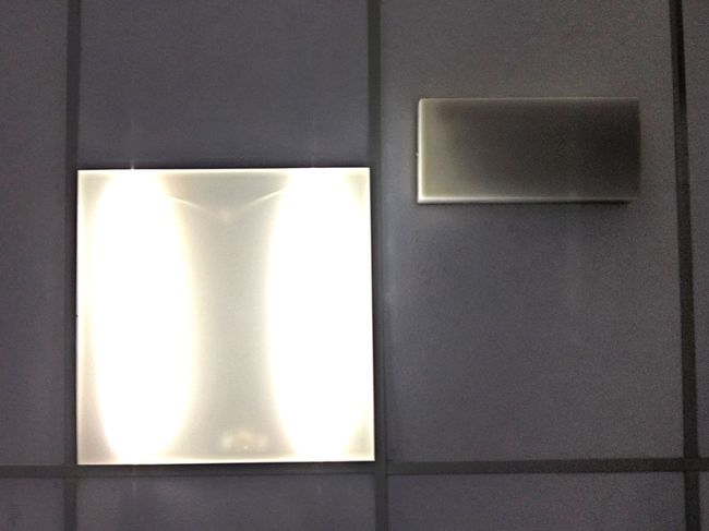 Shspes Ceiling Lights Squares Ceiling Light Lights Polystyrene Tiles Emergency Light Looking Up No People Indoors  Illuminated Light And Shadow