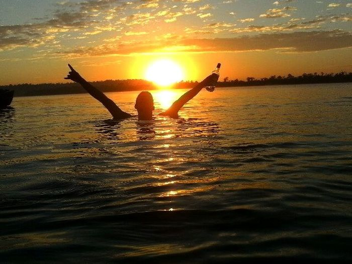 Sunset Relaxing Silhuettes Sun