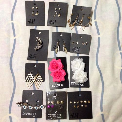 Today's haul f Accessories Earrings Thursday H&M