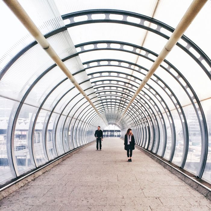 London DLR Poplar Tfl Symmetrical Vanishing Point Tube Postcode Postcards