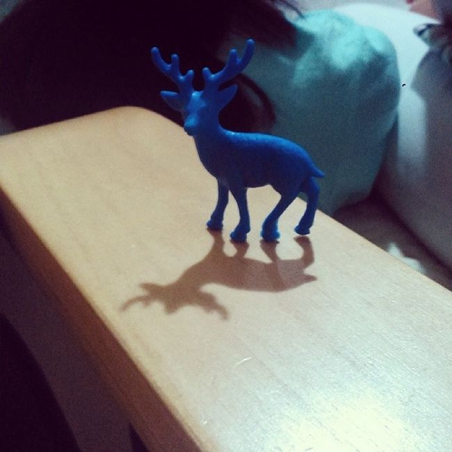 Oh deer, such a stag shadow you cast. Wordplay Deer Smurfstag