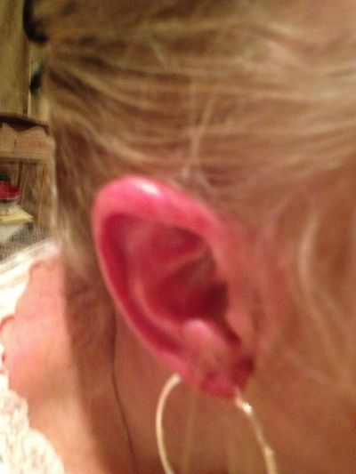 My ears got sunburned today at the antique fair!