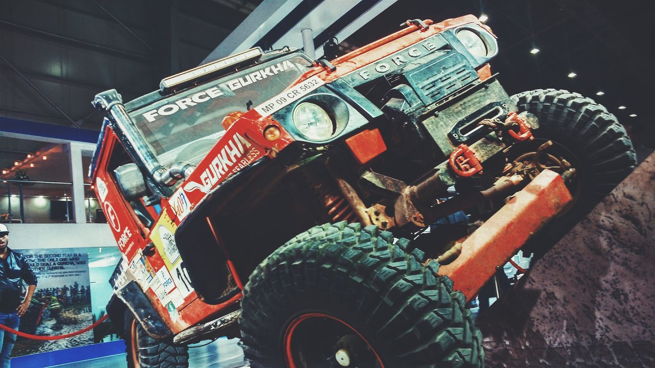 Horsepower is how fast you hit the wall, Torque is how far you take the wall with you and Aerodynamics are for people who can't build engines. Forcegurkha Autoexpo2016 SUV Motorsports Utilityvehicle EyeEm Best Shots Photography Eye4photography  EyeEm Gallery Photooftheday Check This Out PhonePhotography Taking Pictures Bestoftheday From My Point Of View Eye Em Around The World Muscle Cars Heavy Machinery Offroader WhatIValue Taking Photos Racing Beast Eye4India EyeEm Best Edits CarShow