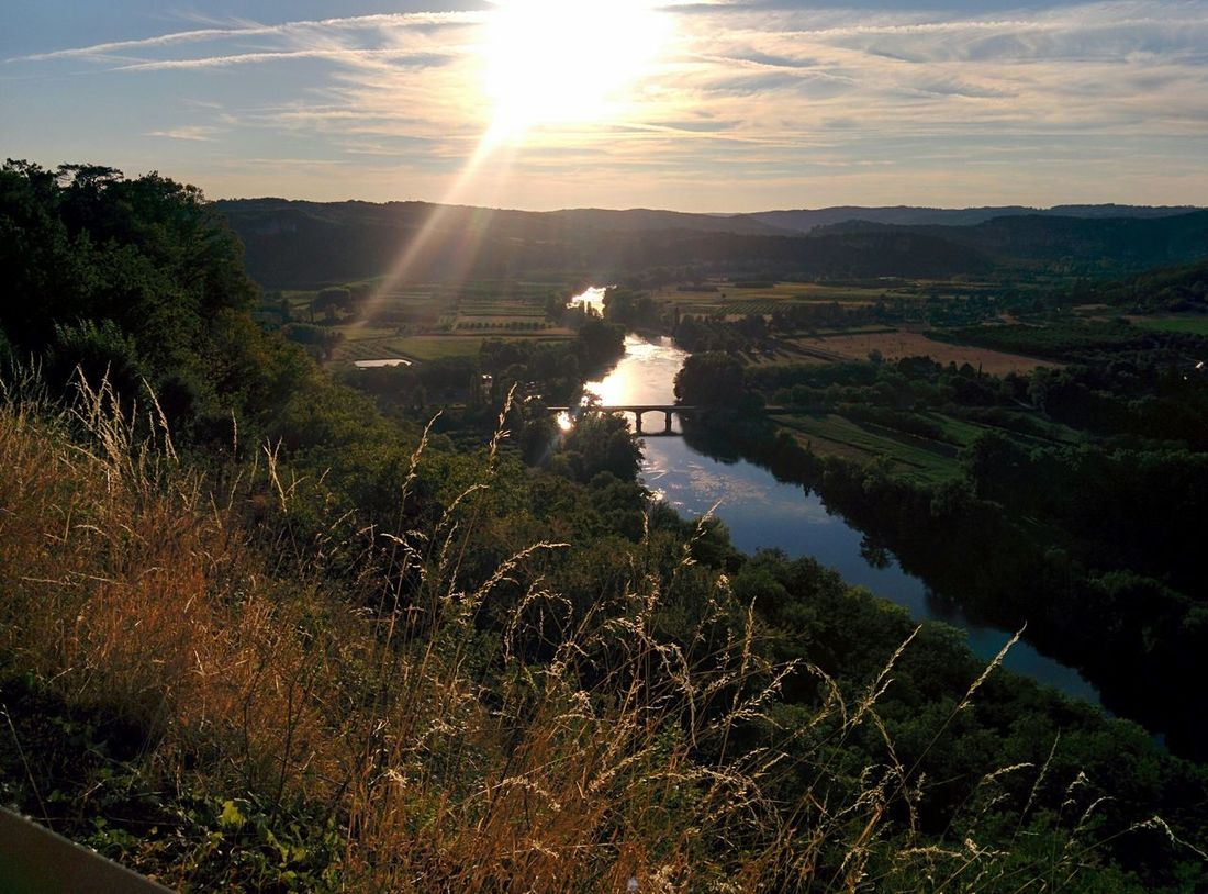 The view from Domme, France. One of my favourite places ever! France Domme Dordogne Enjoying The View River Bridge