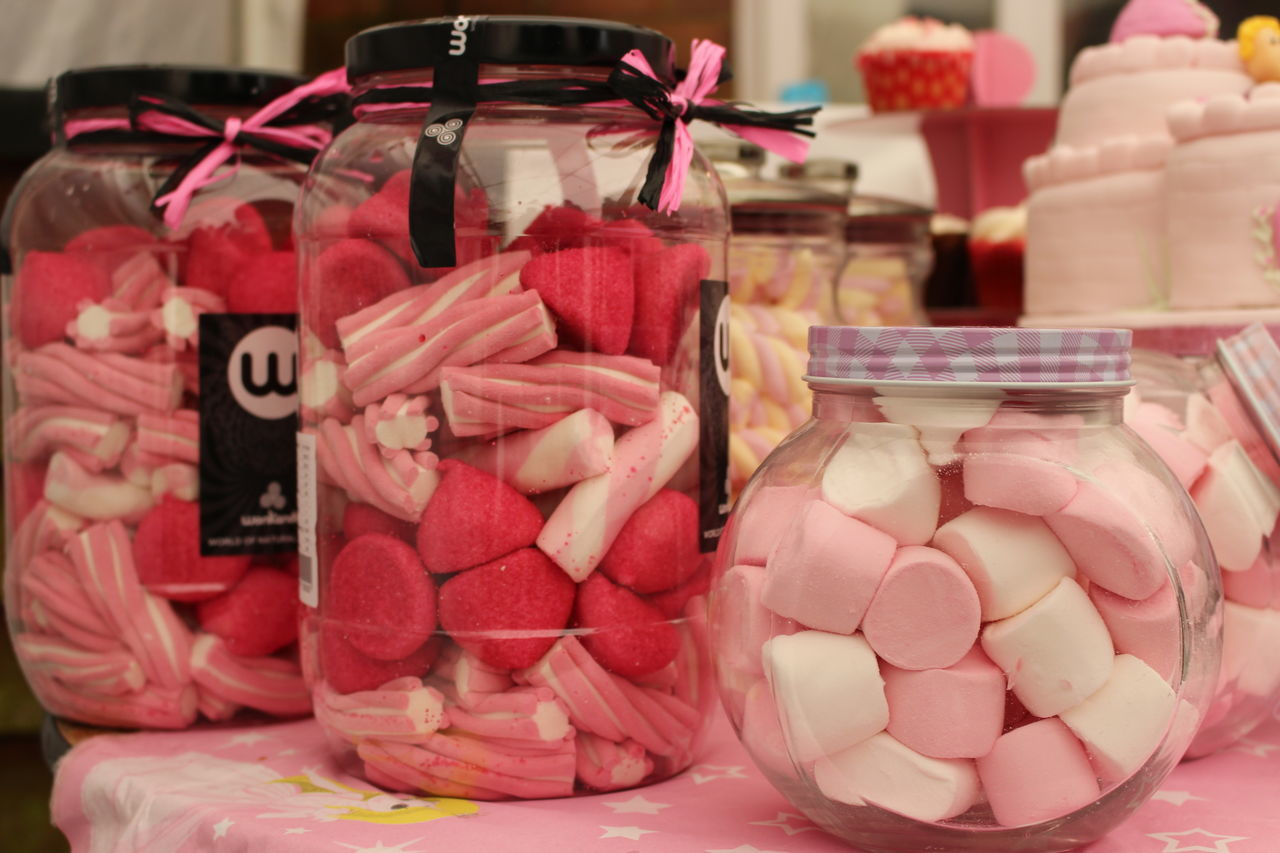 Close-up Day Food Jars  Marshmallows No People Red Variation EyeEmNewHere