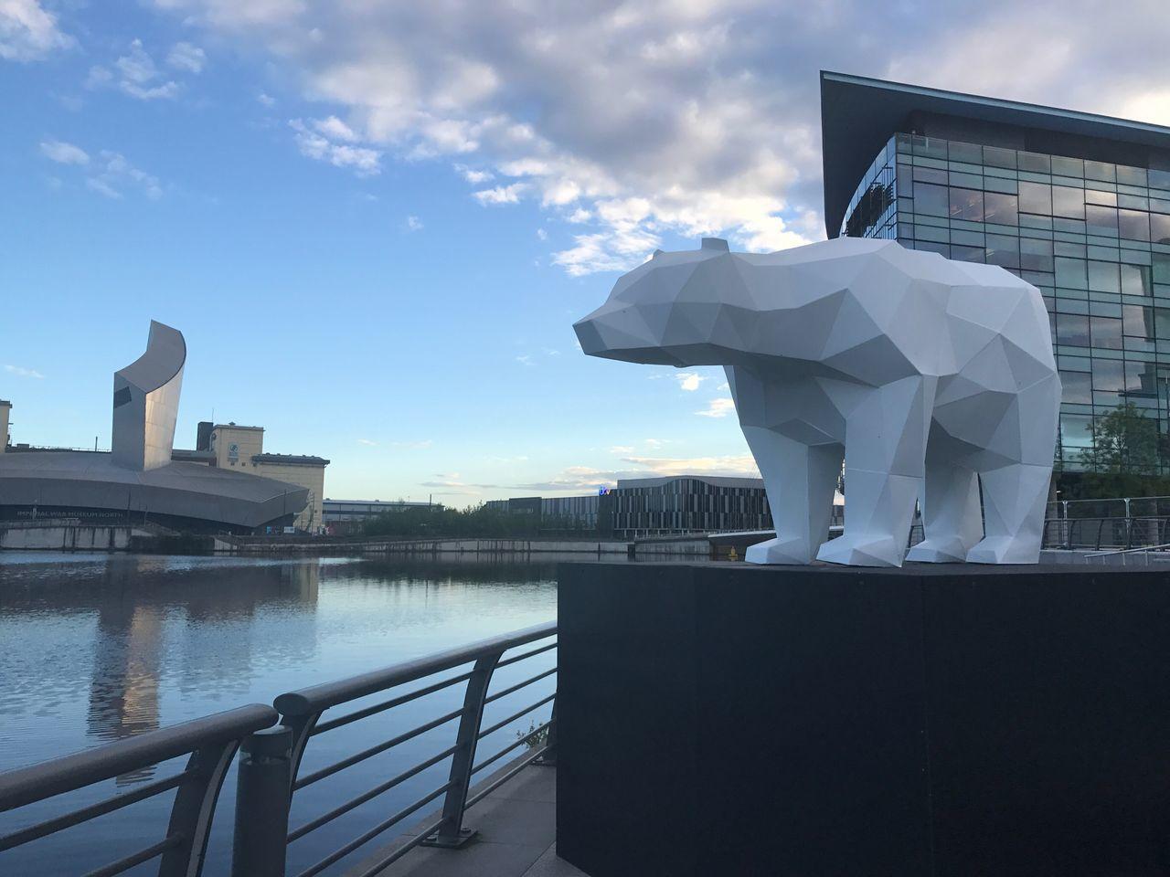 Sky Architecture Outdoors Cloud - Sky Sculpture Modern Polar Bear Mediacityuk Unnaturalborders