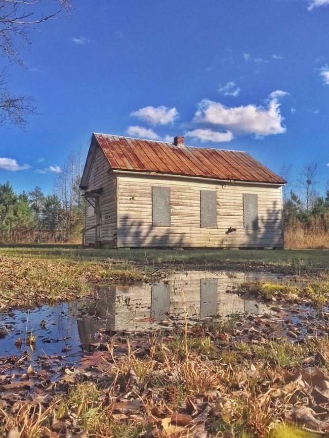 The Cornland School, Chesapeake VA. Rural Scenes Black History Segregation  One Room Schoolhouse History Historical Building Reflection IPhoneography