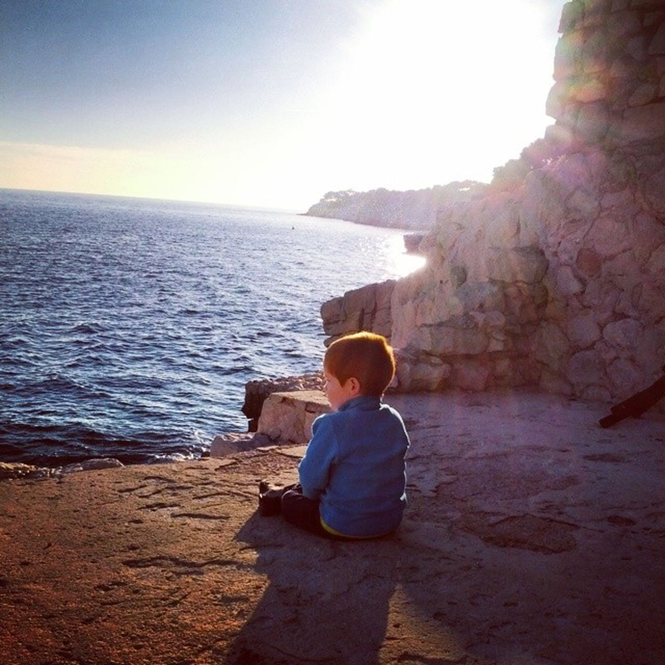 Tiziano in front of the French Sea of Cassis . coteazure