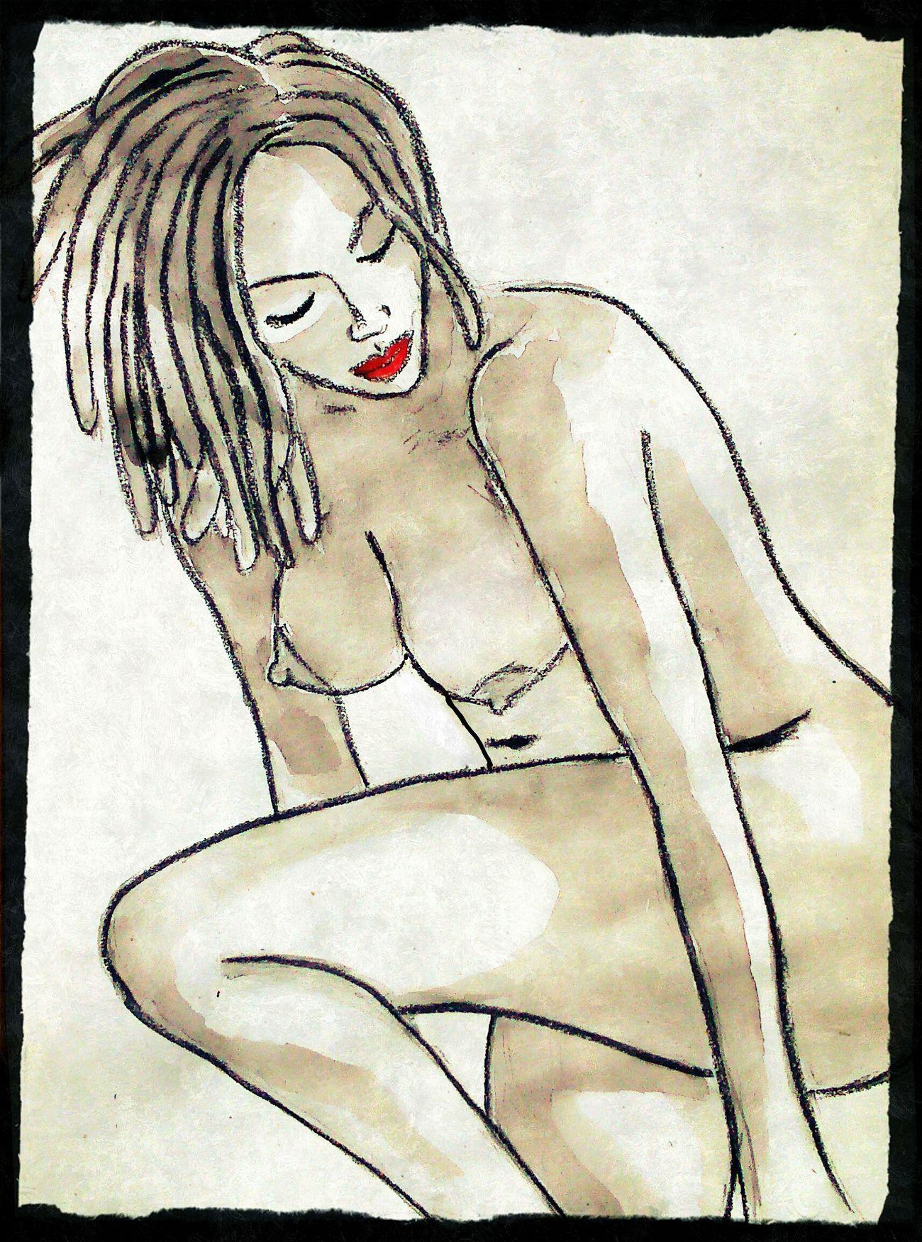 Drawing - Art Product Watercolor Painting Art And Craft Sketch Myartwork Human Representation Artistic Beauty Sketch Pad