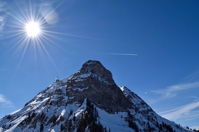 Landscape Moléson Mountain Physical Geography Plane Trails Scenics Snow Sunshine Switzerland Market Bestsellers May 2016 Bestsellers
