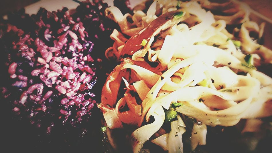 Good Food Breakfast Red Rice Pancit Miki Healthy Food