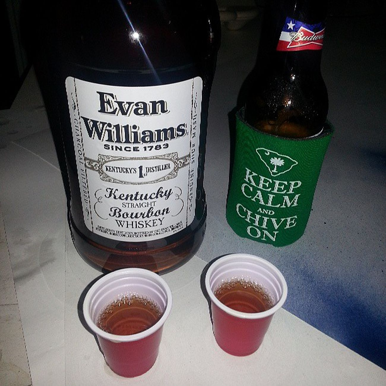 Chive On Charleston... Evan Williams White label Chiveoncharleston Chiveon Kcco CHIVEONCHS