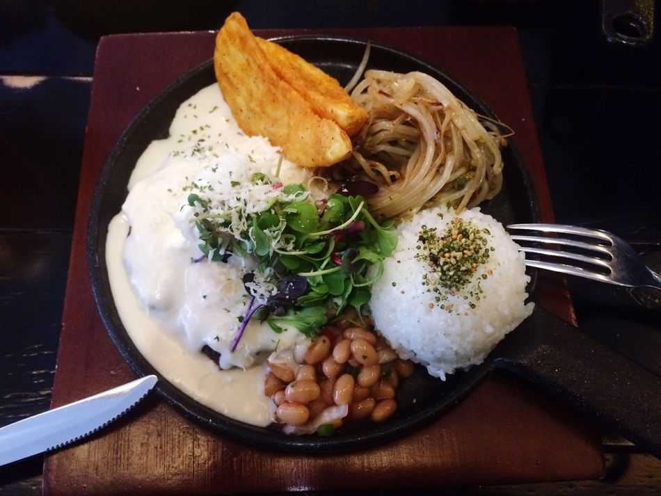 Hamburg Steak Lunch Food Rice