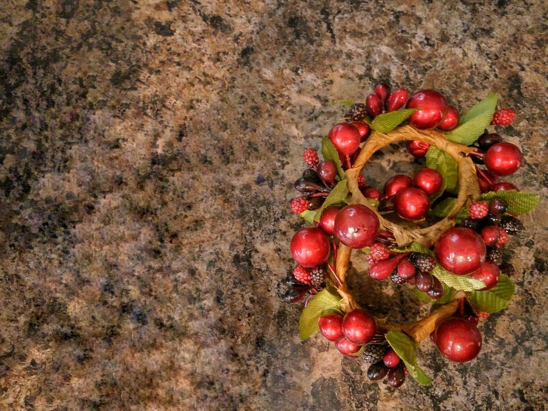 Red High Angle View Red Berries Red Berries Green Leaves Red Berry ... Red Berrie