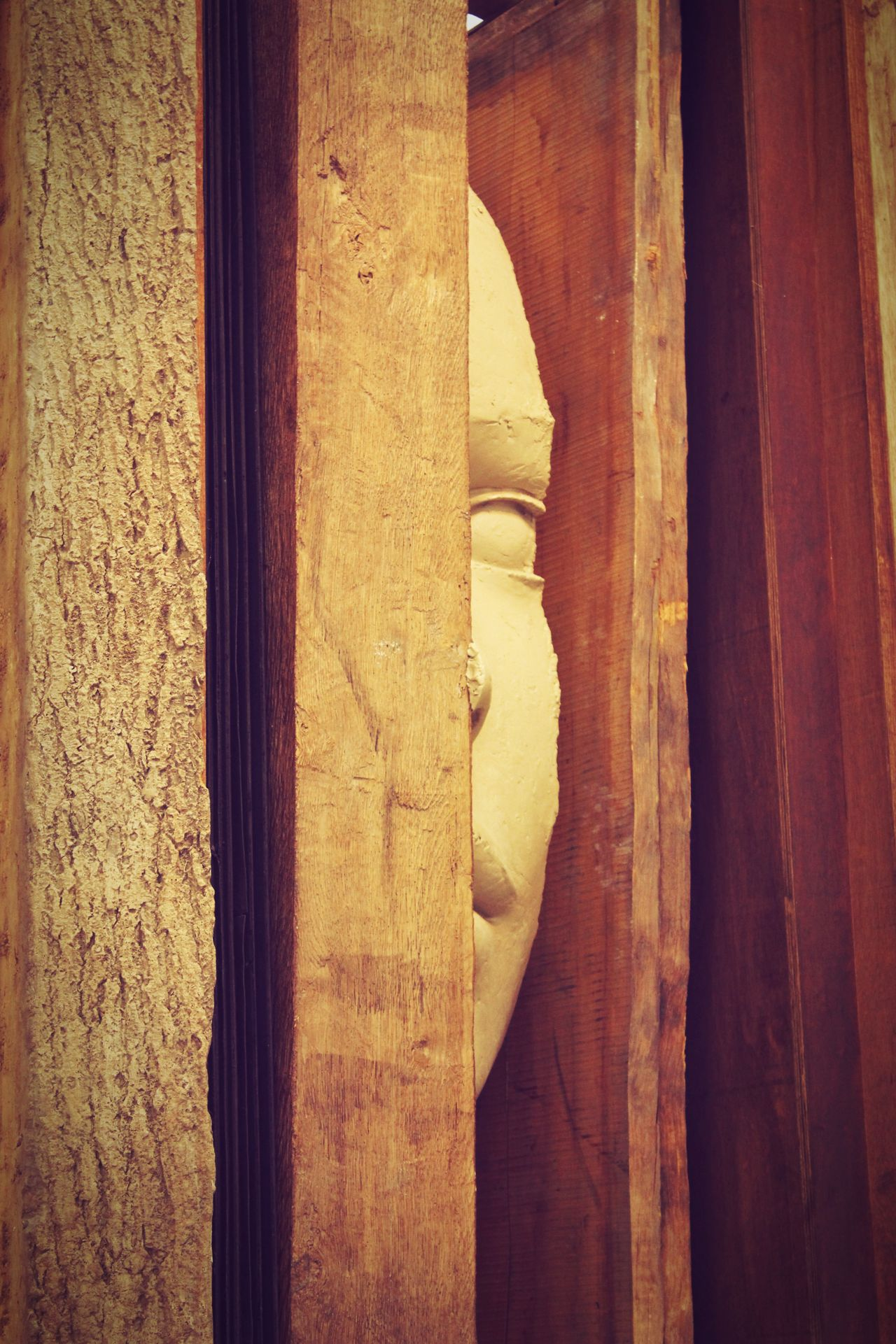 ArtWork Built Structure Close-up Face Wood EyeEmNewHere