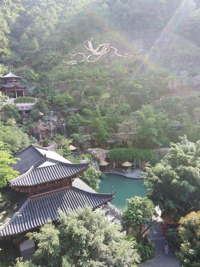 Non Filter Chinese Classical Architecture Beautiful Scenery Rainbow Scenic Attraction