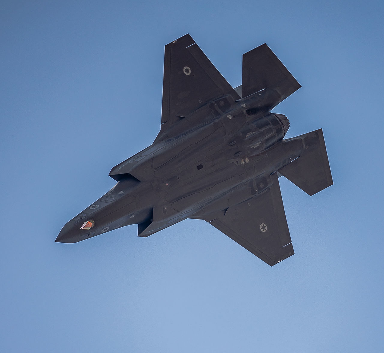 F-35I Adir Adult Air Force Air Vehicle Airplane Airshow Aviation Aviationphotography Blue Clear Sky Day F-35 A F-35 Lightning II F-35I Fighter Plane Flying IAF Israeli Air Force Lockheed Martin F-35 Low Angle View Mid-air Military Motion No People Outdoors Sky
