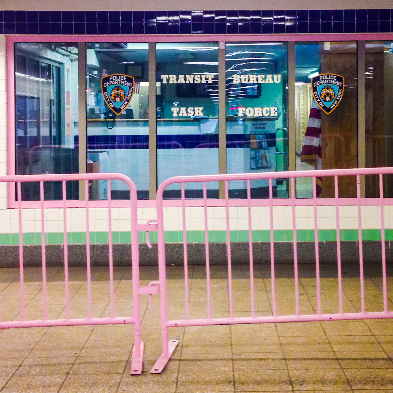 Pink Police Barriers New York Subway Transit Subway Colors Resist Solidarity Queer Police Pink NYC NY New York City GenderEquality Progress Gayrights Freedom Color Barrier Gayrights
