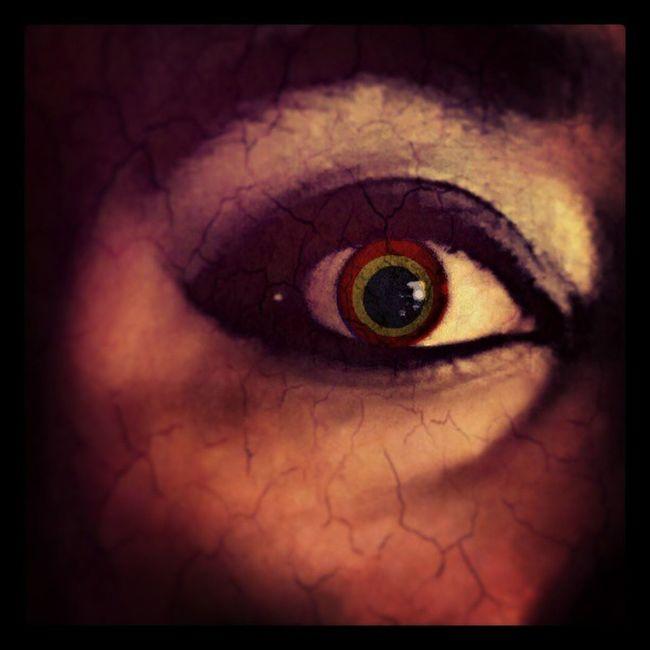Scary Eye Colored Bored Smokeyeye