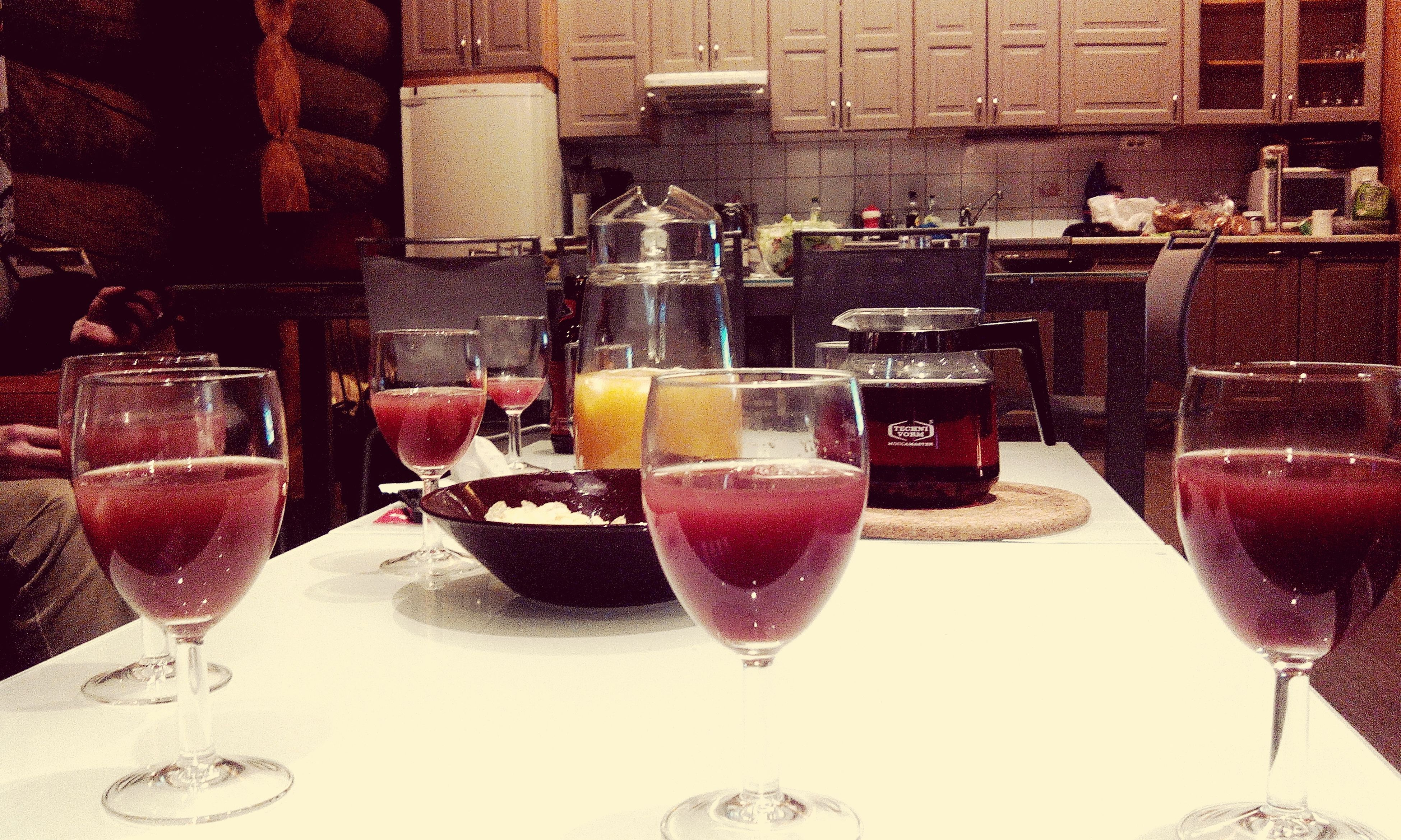 food and drink, freshness, drink, refreshment, indoors, table, still life, glass - material, red, food, drinking glass, fruit, close-up, sweet food, transparent, pink color, dessert, glass, no people, indulgence